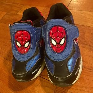Spider Man Light Up Shoes Toddler Size 10
